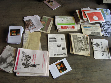 "Publication Pile from ""How We Coordinate"" Discussion at Version 07 Festival in Chicago"