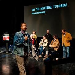 Don Washington's Mayoral Tutorial at the Artists' Congress