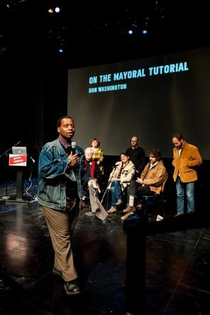 Don Washington's Mayoral Tutorial at the Artists' Congress